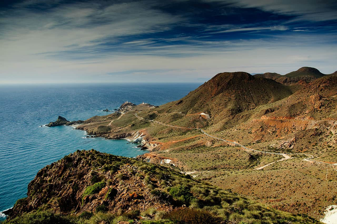 Mediterranean view from the Cabo de Gata Natural Park