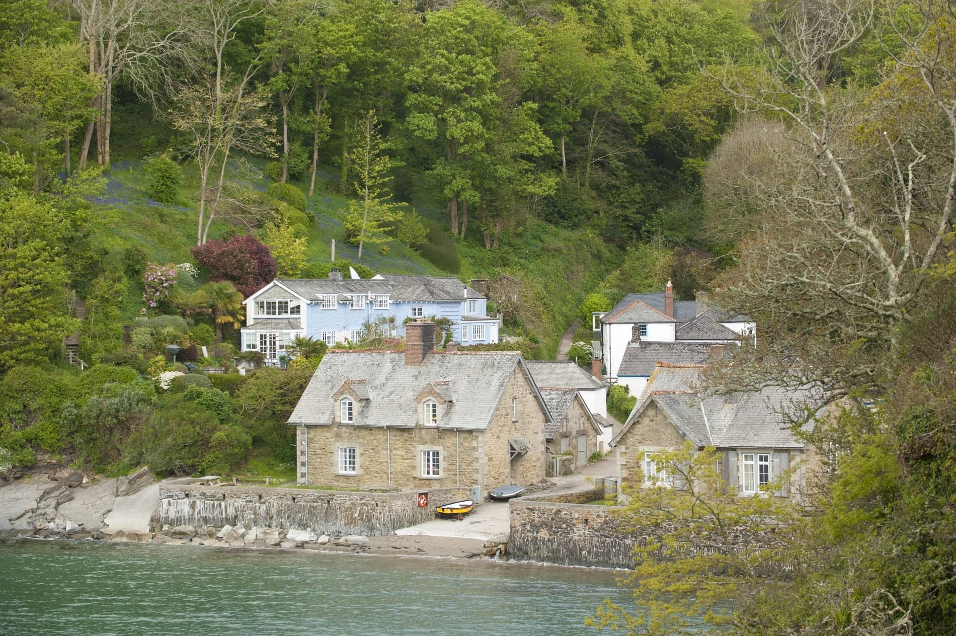 Cornish scene at the quay in North Helford
