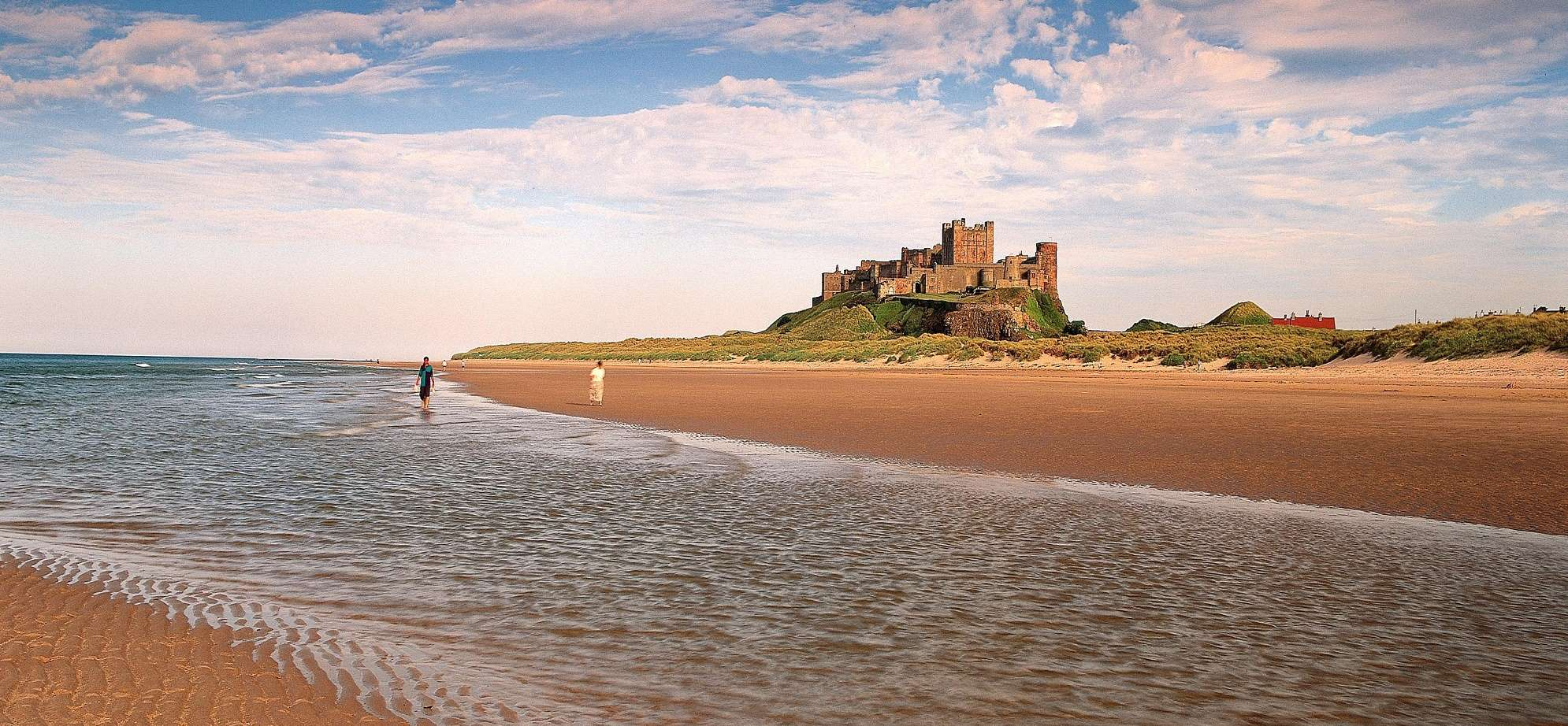 Image of Bamburgh Castle, along the shorline