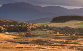 Corriechullie Farm and the Cairngorm Mountains, Grantown-on-Spey