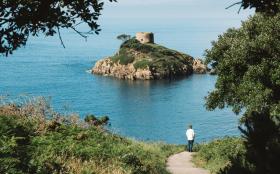 Jersey island holidays Coastline Portelet Bay