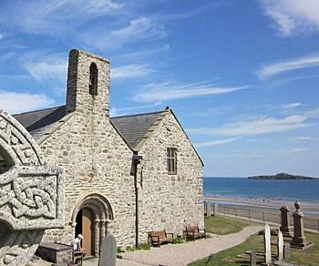 Llyn Coastal Path St Hywyns Church