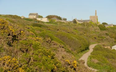 Village scene along the Cornwall coast path