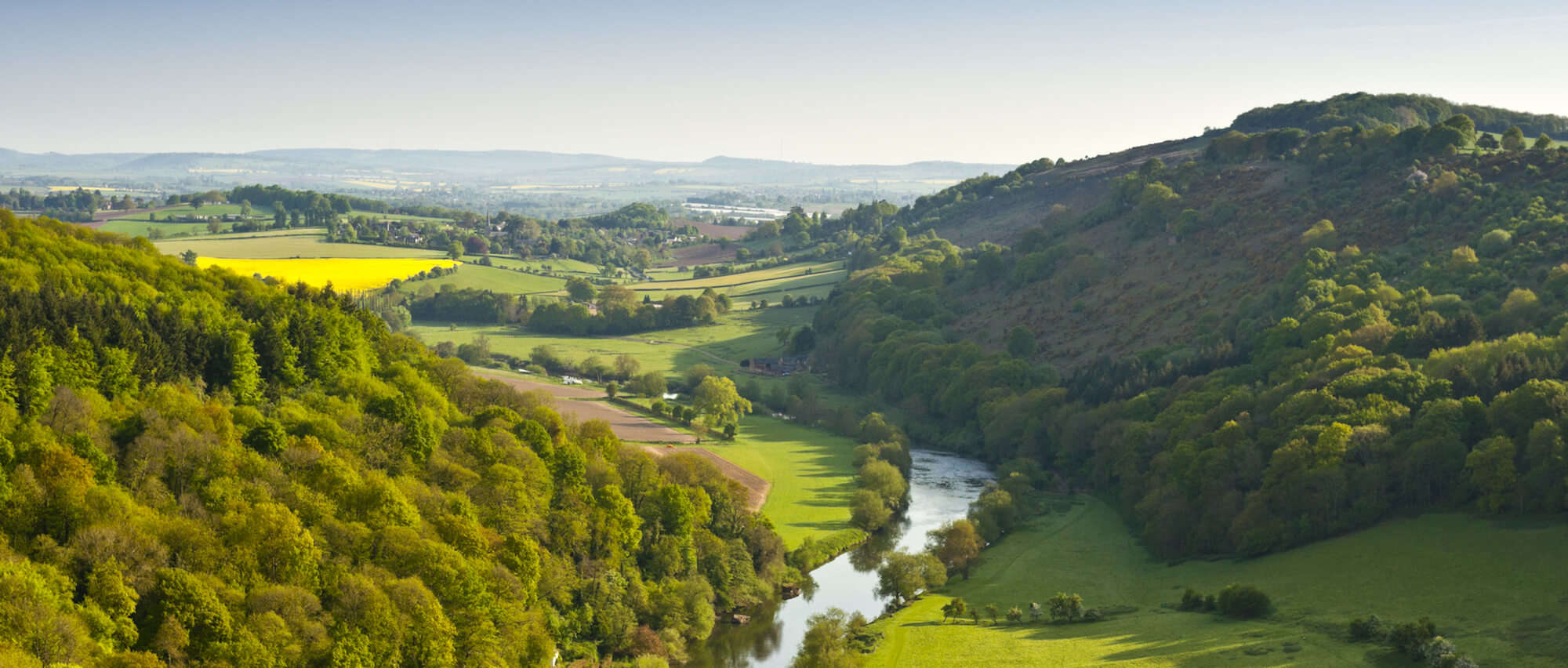 Large scale shot of the Wye ValleyScenery