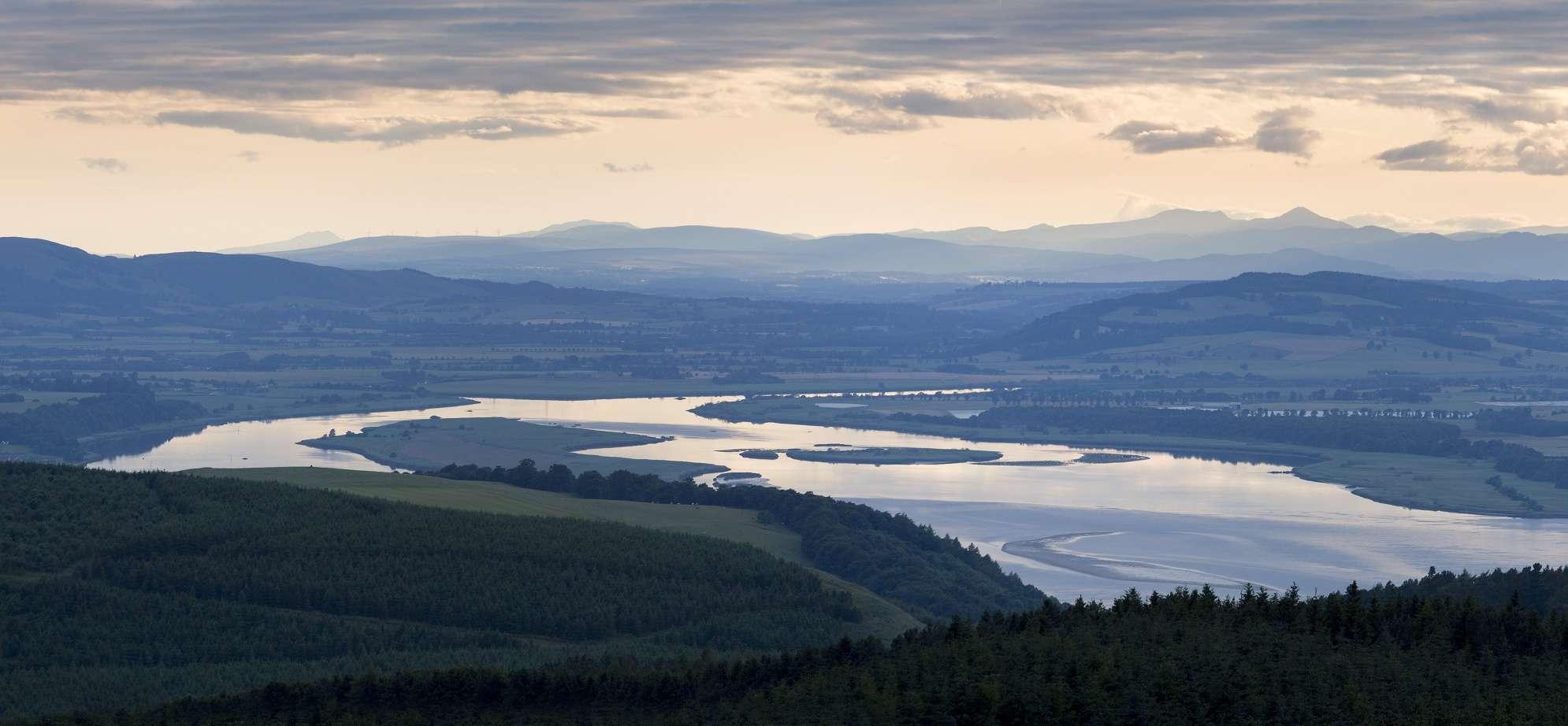 Landscape out toward Tay Estuary Fife Walking Holiday