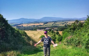 Walker on Cheviot Hills