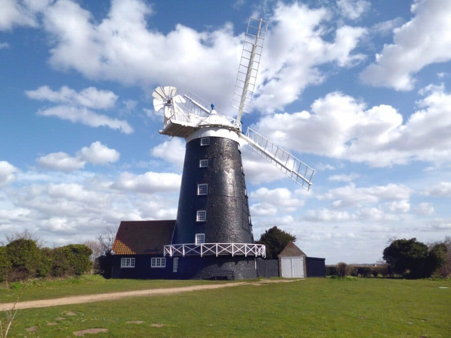 Burnham-Overy-Staithes windmill-Norfolk-Coast-Path