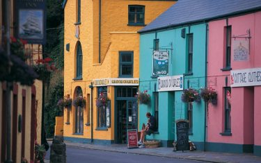 Multi coloured houses in Solva, Pembrokeshire,