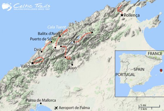 Walking Holidays in Mallorca - Map