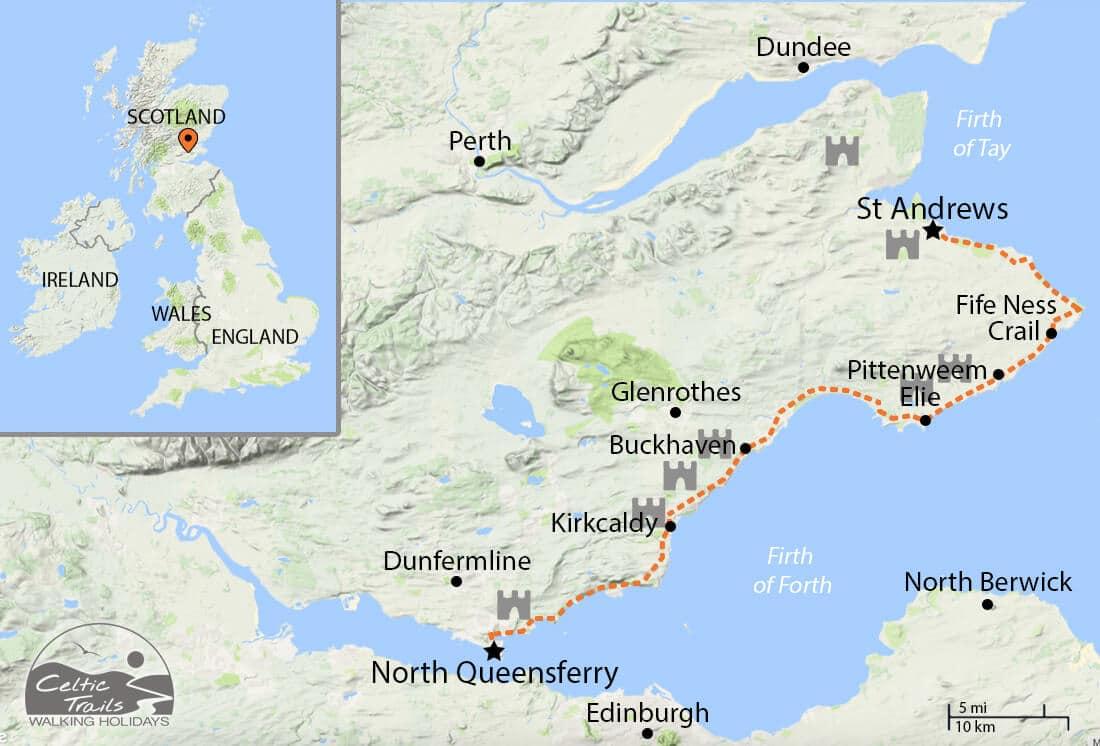 Fife Coastal Path walk map