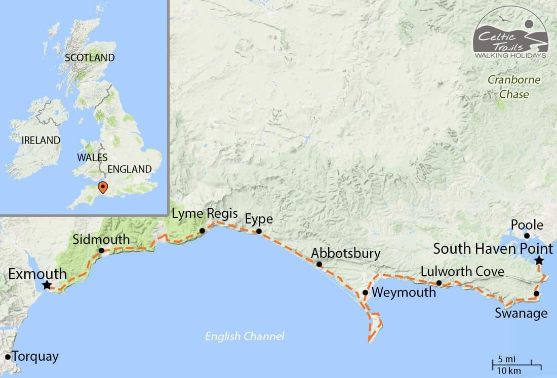 Jurassic Coast walk map