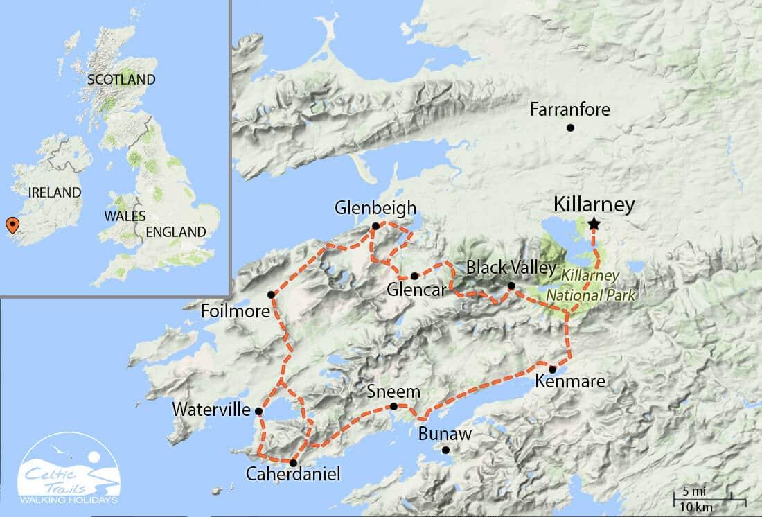 Kerry Way walk map