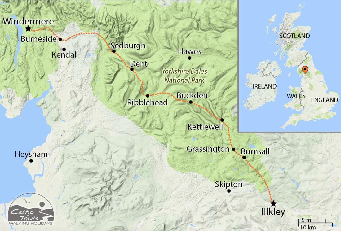 Dales Way walking map