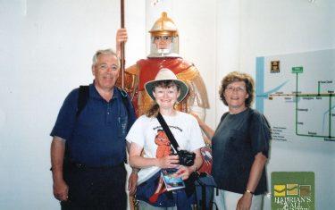 Diane + Ben Gwaltneg + Karen walking holiday at Hadrian's Wall