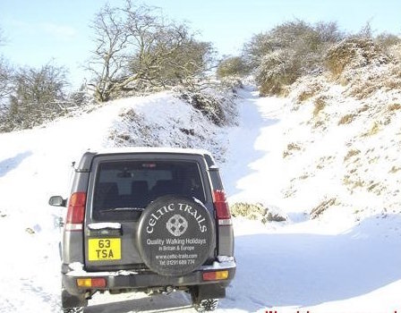 One of our company vehicles in the winter
