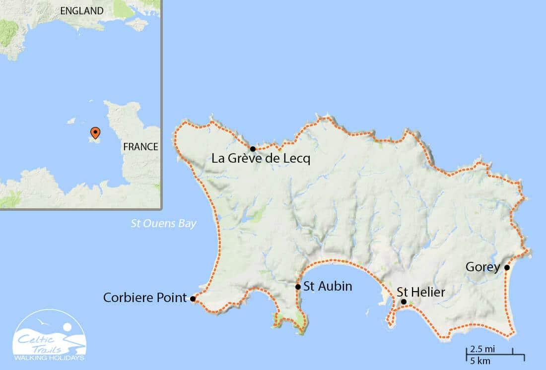 Jersey Round Island - walk map