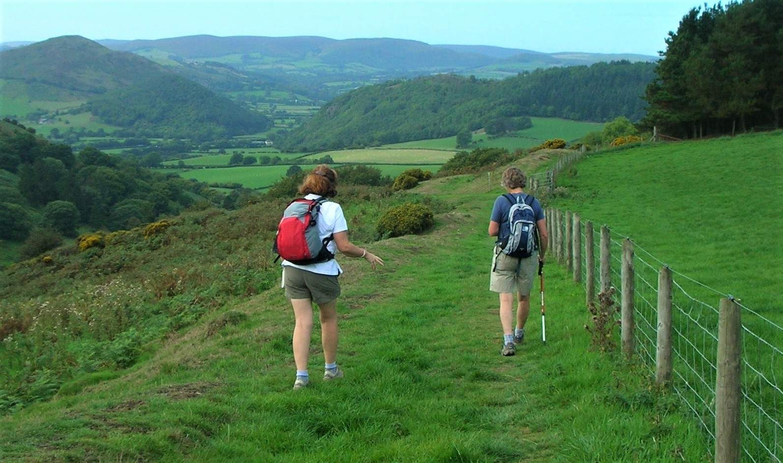 Walkers on the Offa's Dyke