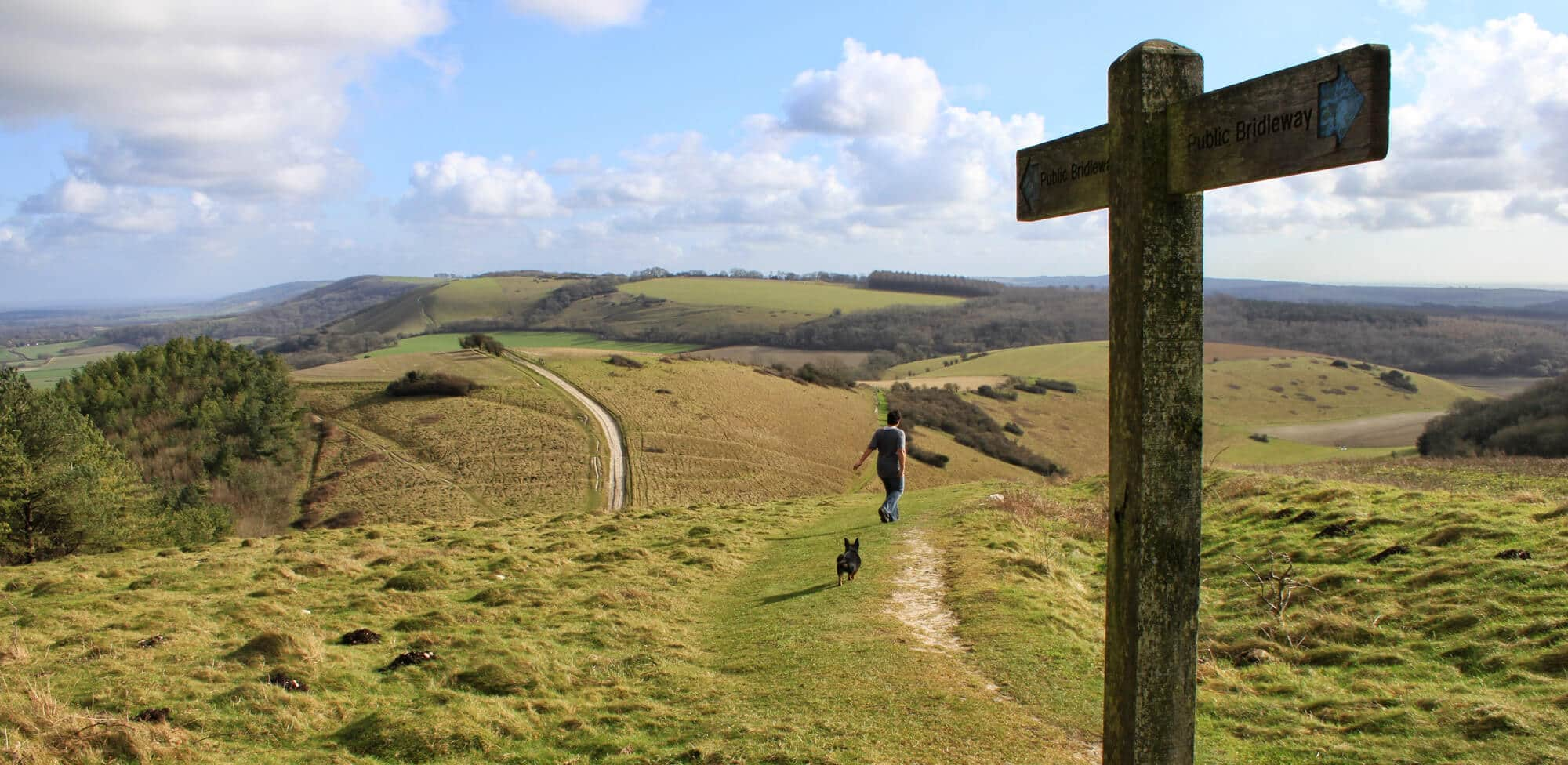 National Trails signpost at South Downs Way