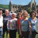 Celtic Trails Team at Tintern Abbey