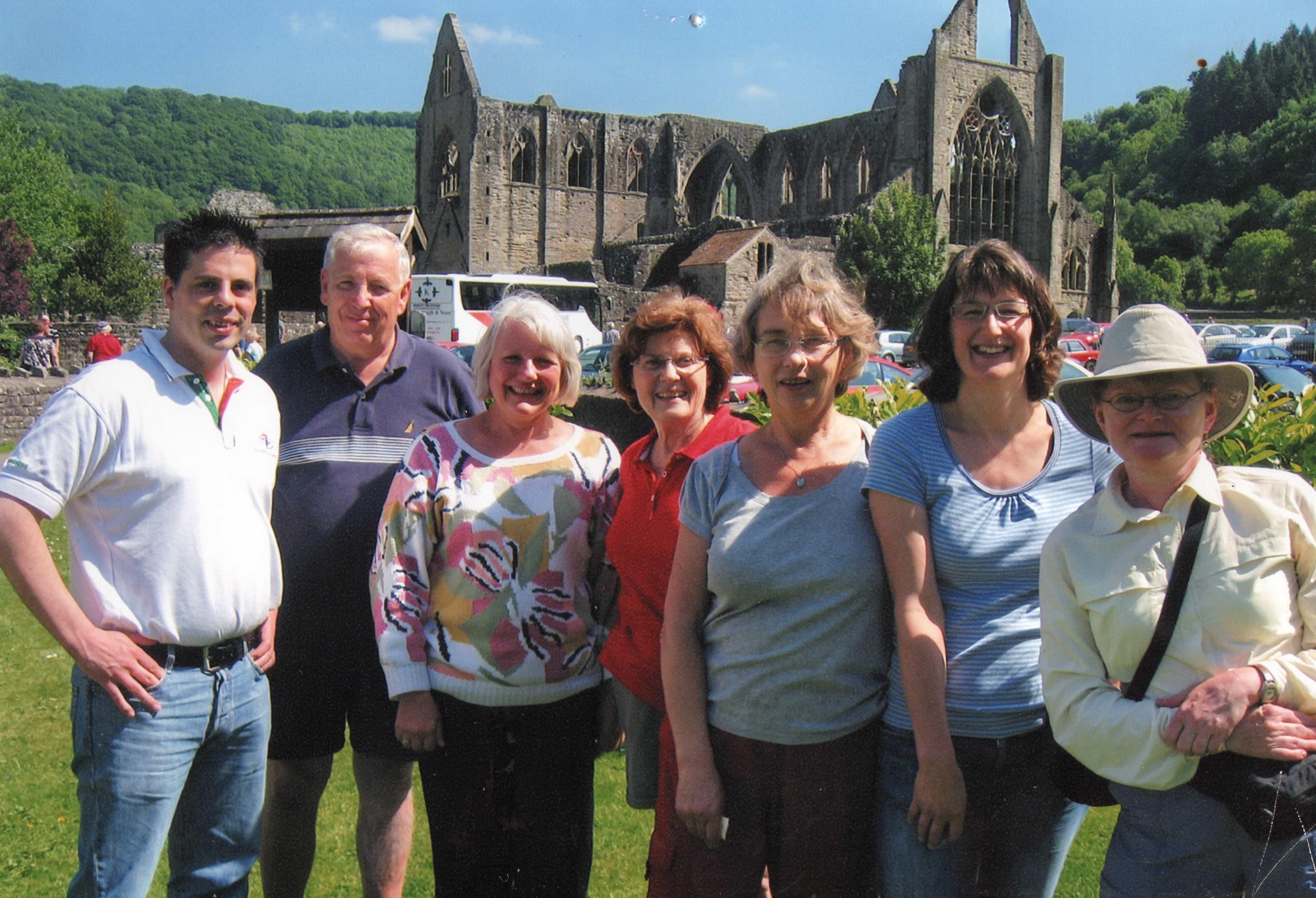 Celtic Trails Team at Tintern Abbey
