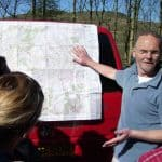 Angus, tour leader, describing the location