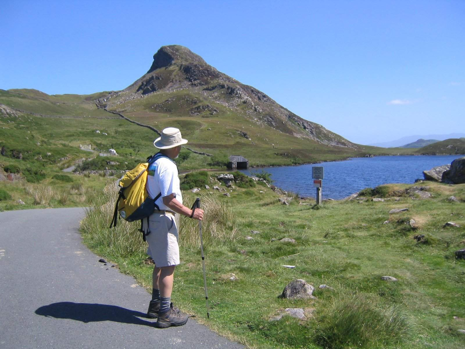 One of our walkers admiring lake