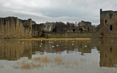 Flint Castle at (very) High Tide, North Wales Coast Path Gallery © Andrew