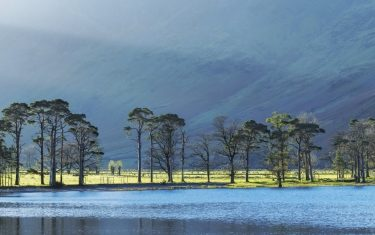 Image of large body of water, Derwentwater in the Lake District, Cumbria, England