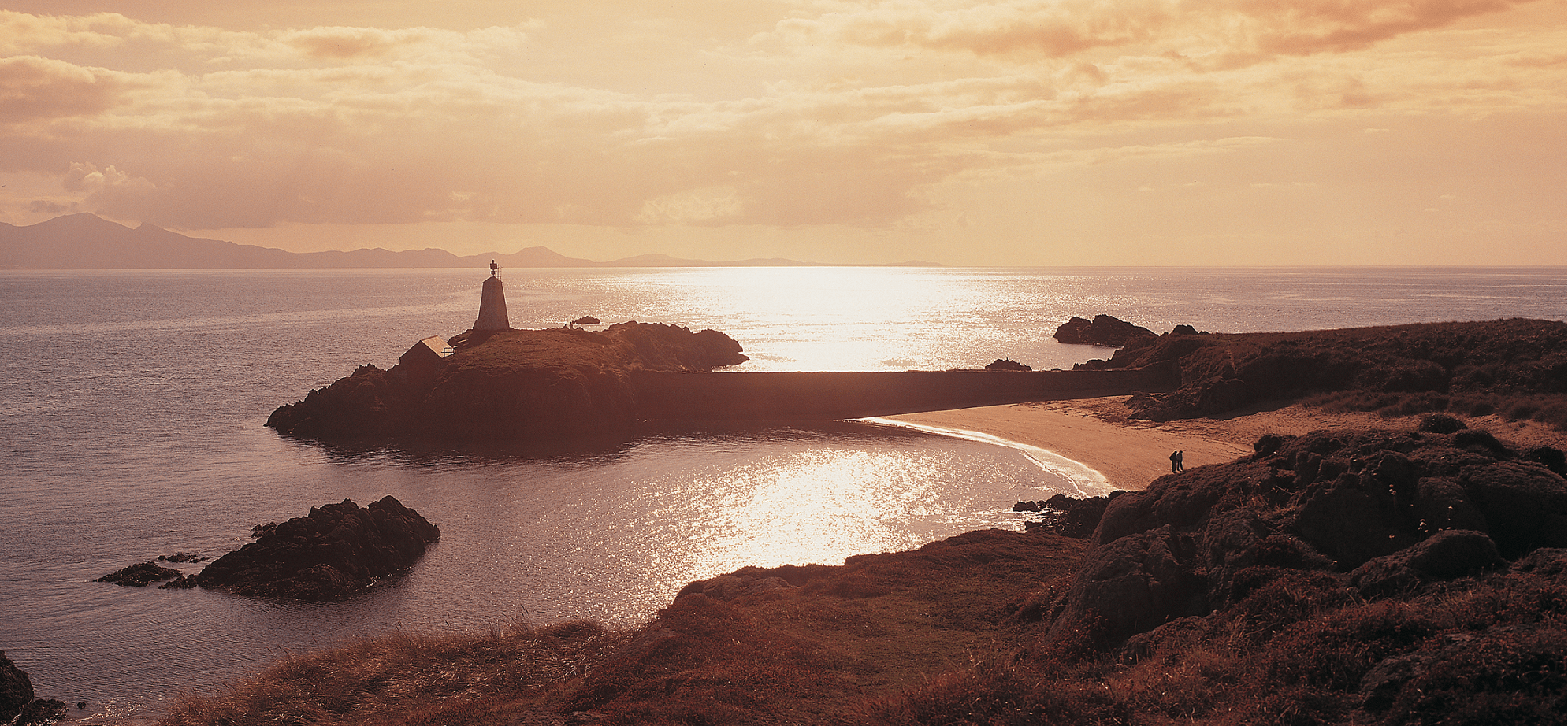 Image of Tŵr Bach Lighthouse at the Llanddwyn Beach Wales Coast Path Walking Holidays