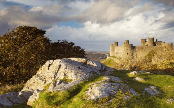 Harlech Castle on the Meirionnydd Coast