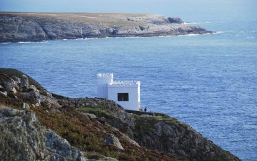 Image of Ellins Tower, seen from the cliffs at Holyhead