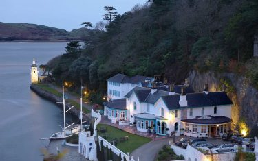 Port at Portmeirion Hotel at dusk