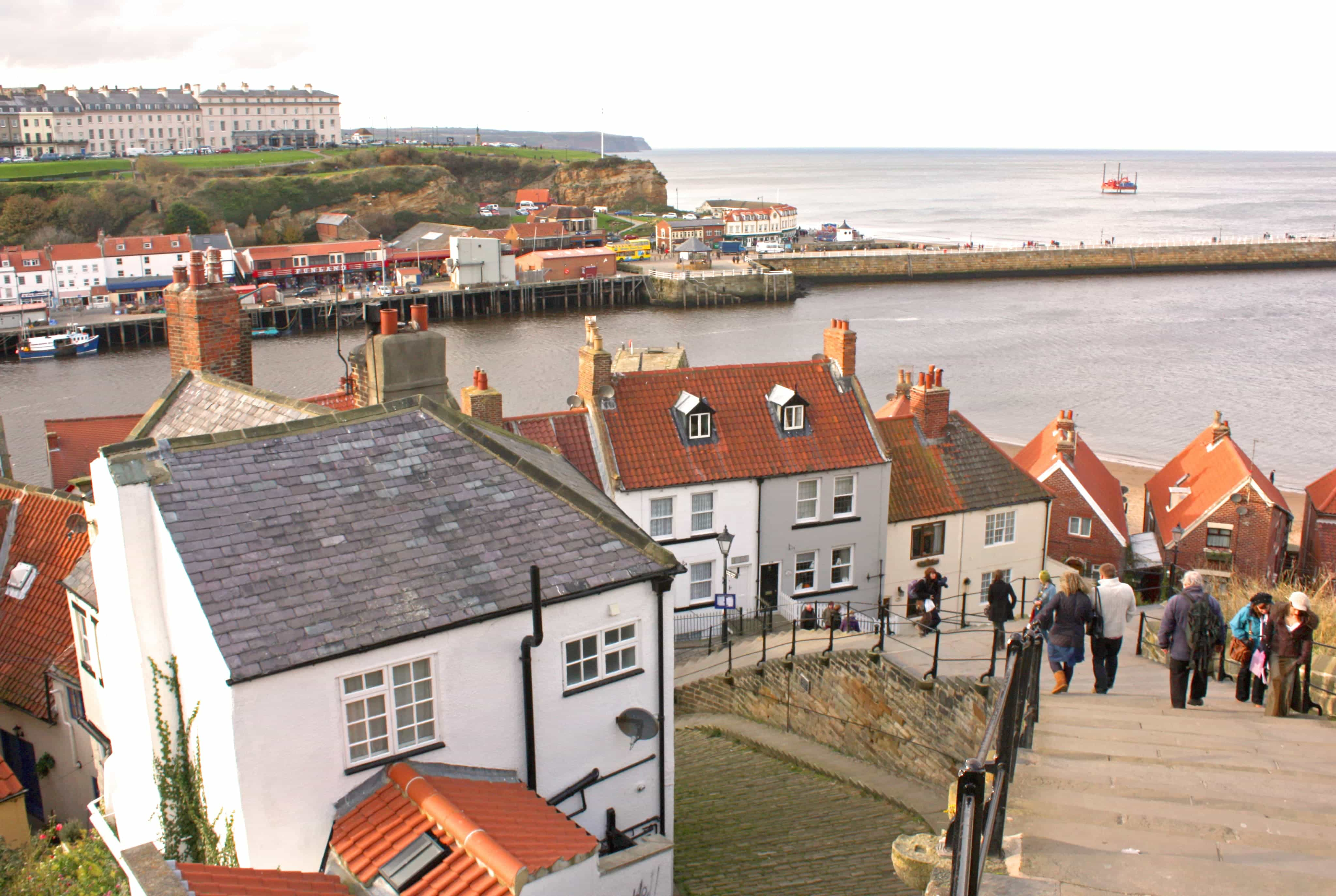 Whitby, a seaside town that coincides with our route along The Cleveland Way, North East England