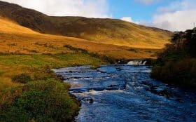Ireland walking holidays Aasleagh Falls, Erriff River, Co. Mayo.