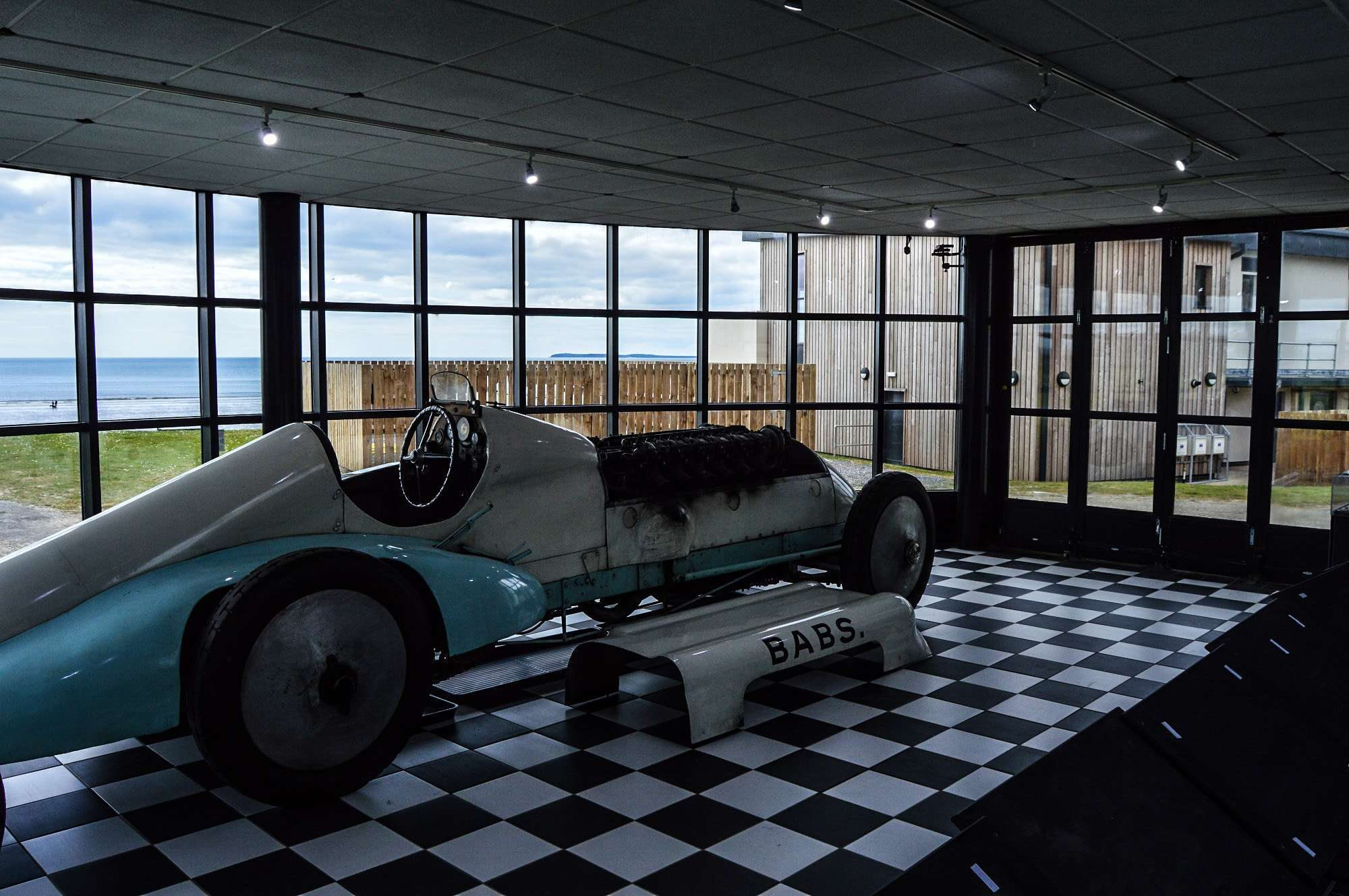 J.G Parry's Car at Museum of Speed, Pendine Sands