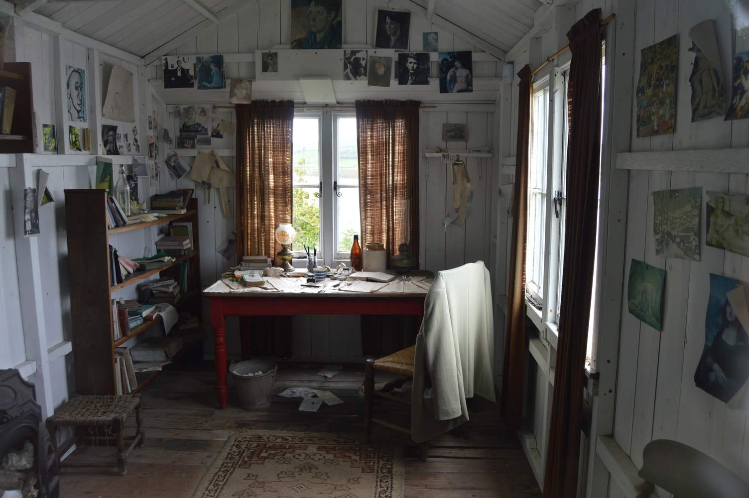Dylan Thomas's Writing Shed, preserved in its original state