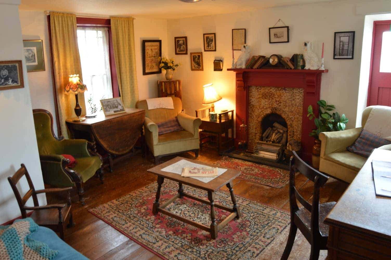 The Poets living room, exactly how he left it