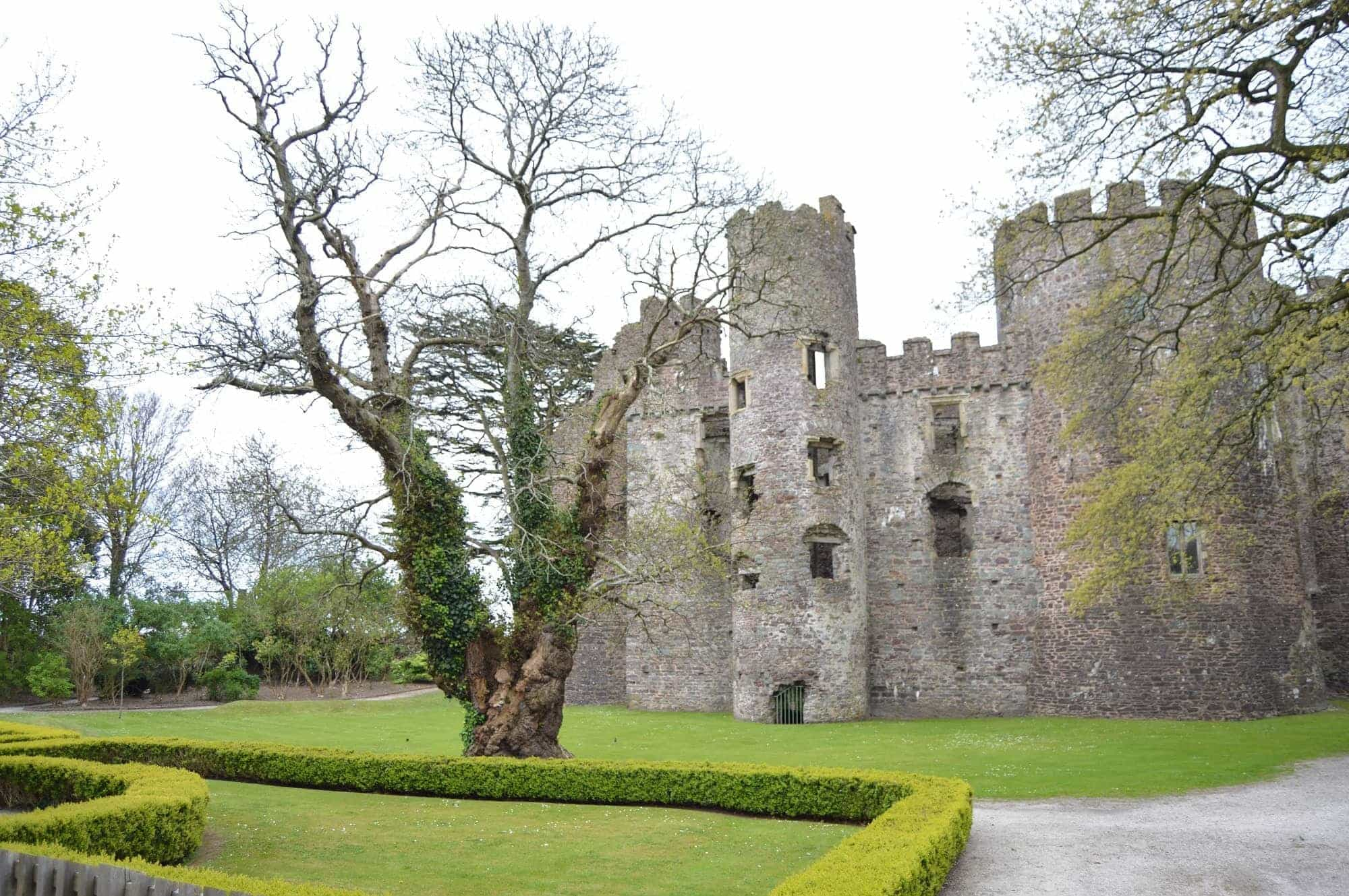 Facing Laugharne Castle