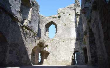 Llansteffan castle Interior