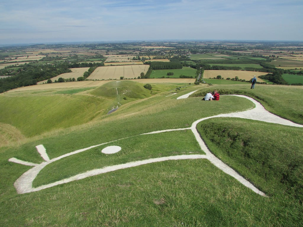 Uffington White Horse, walking the Ridgeway