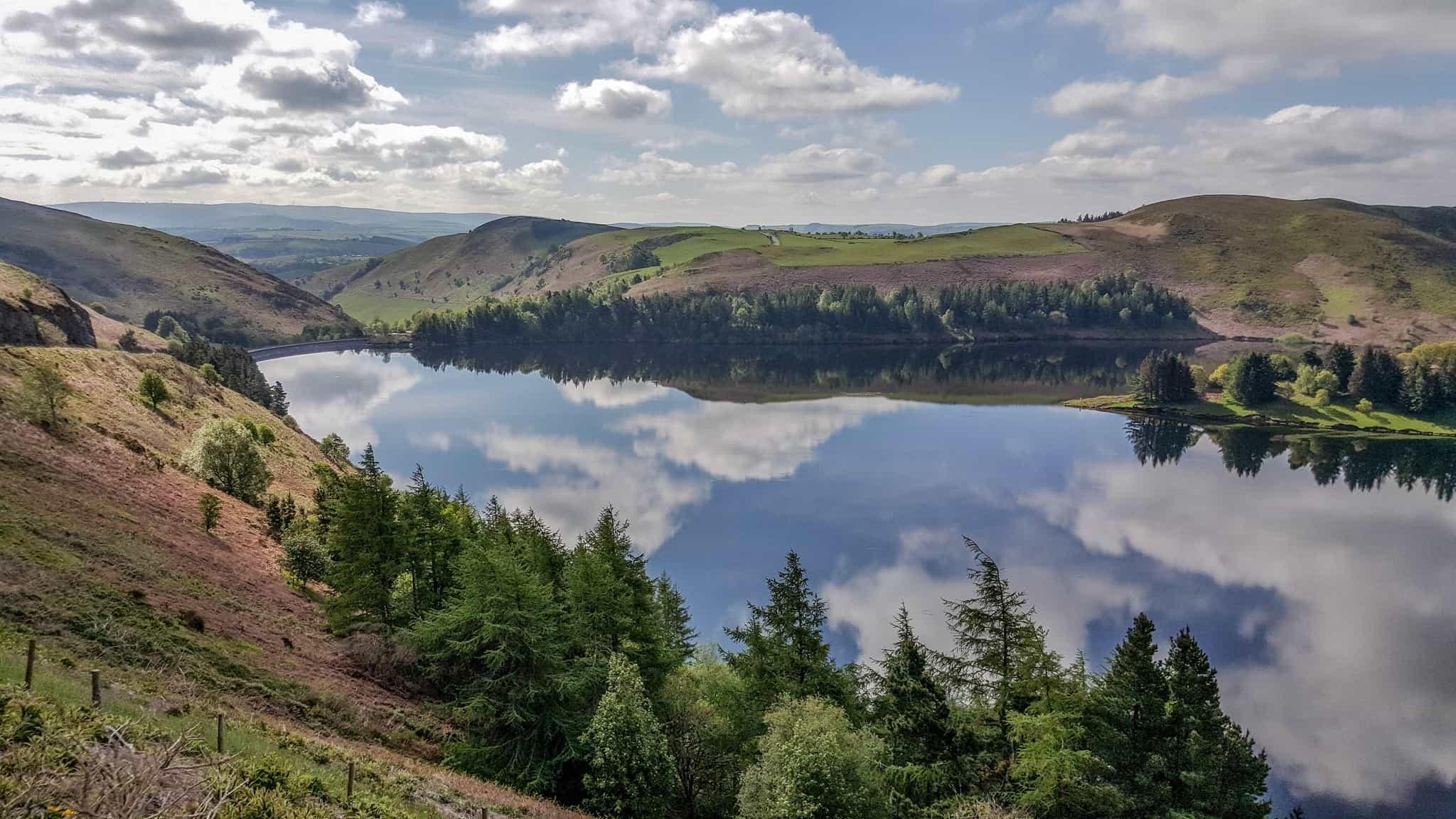 Clywedog Reservoir, Glyndwr's Way Walking Holiday