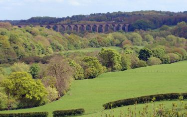 Pontcysyllte viaduct Llangollen walking