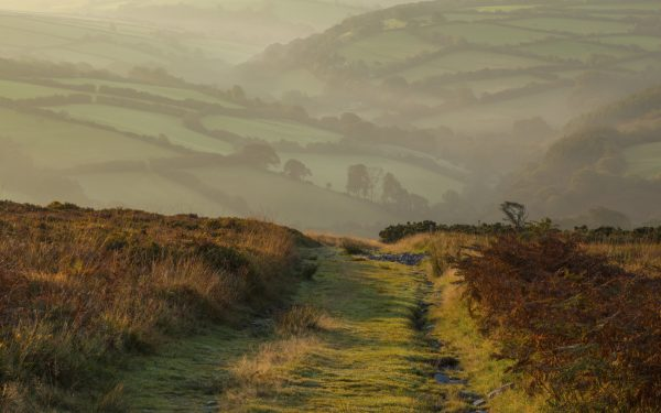 Exmoor landscape in autumn on the Coleridge Way