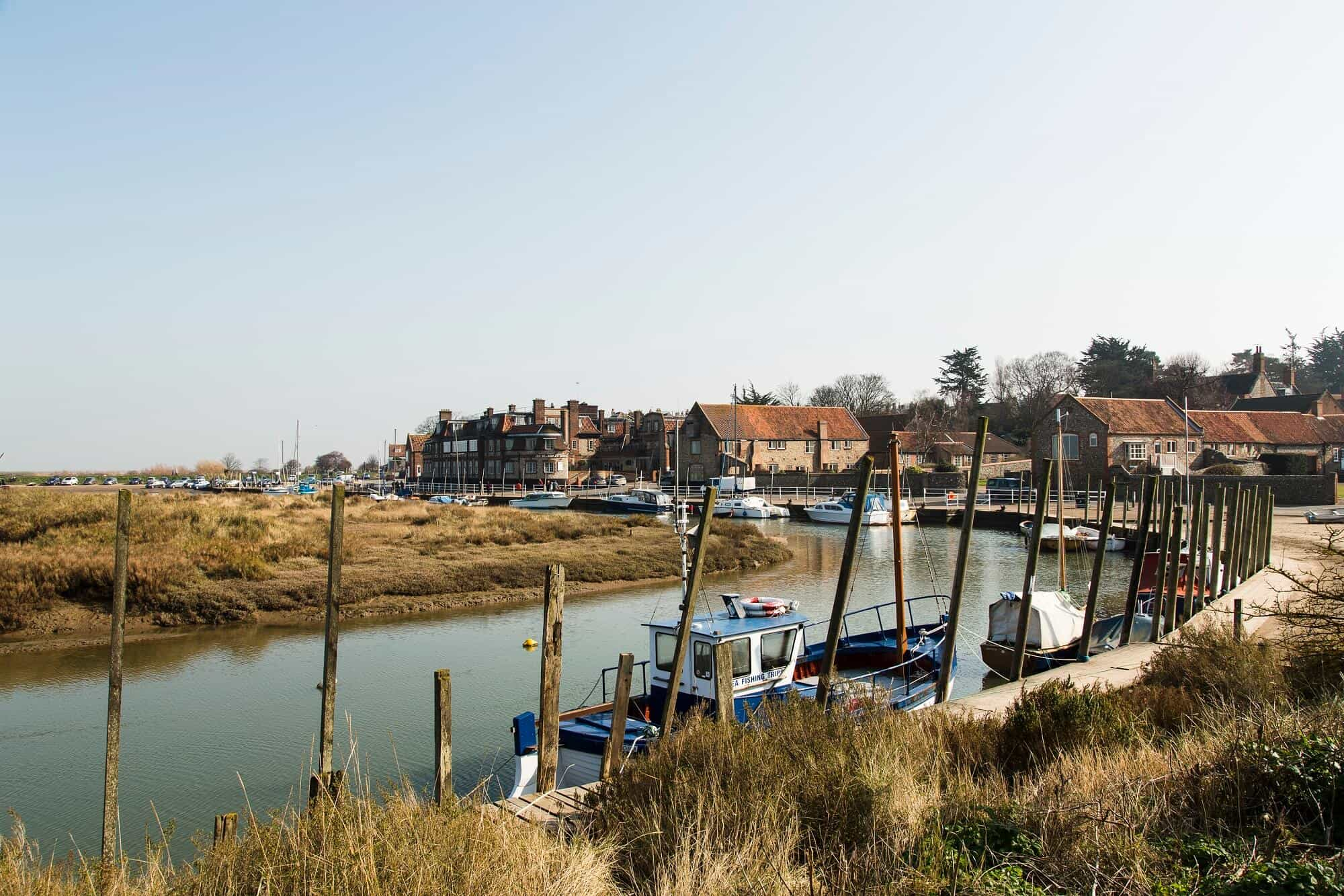 Blakeney Harbour on the Norfolk coast path