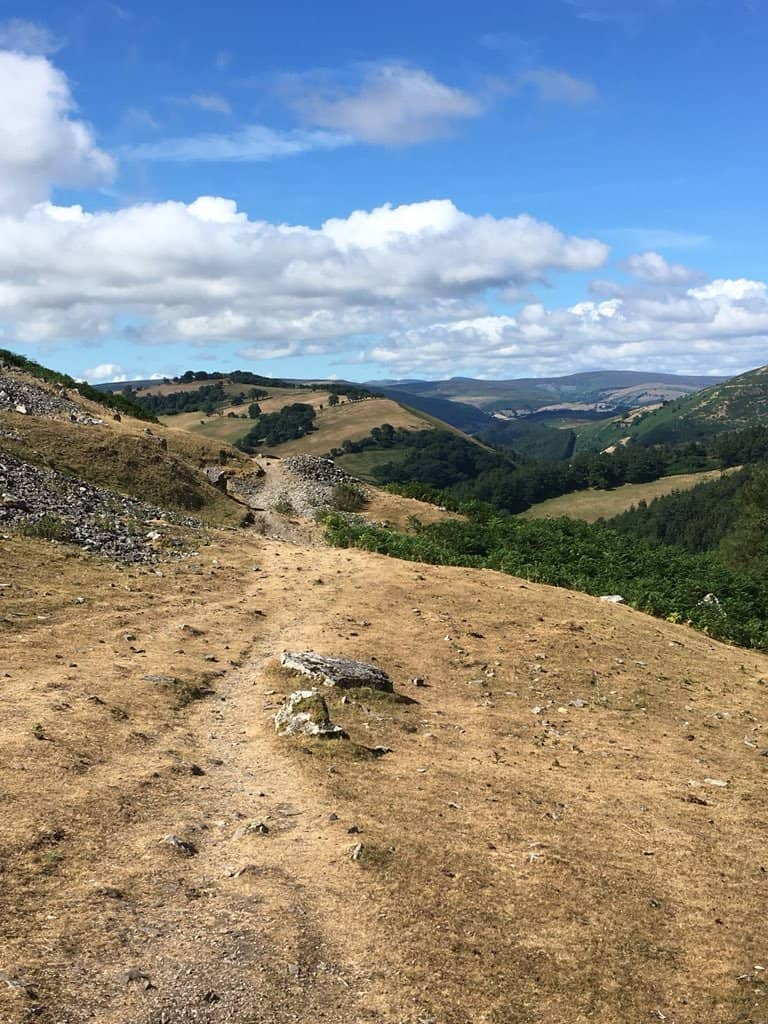Castell Dinas Bran to Clwyd Gate Scenery
