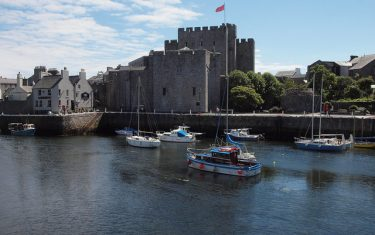 Castle Rushen on the Isle of Man Coastal Path