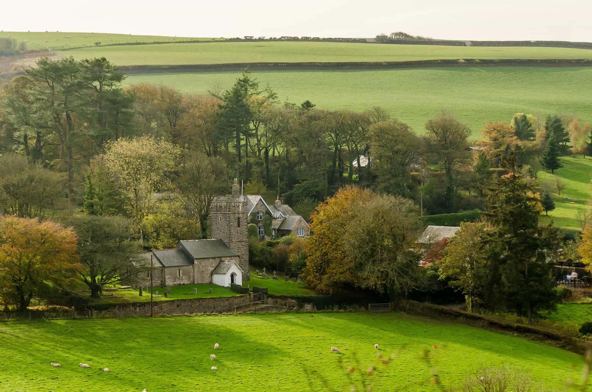 Walking Through Villages in Exmoor