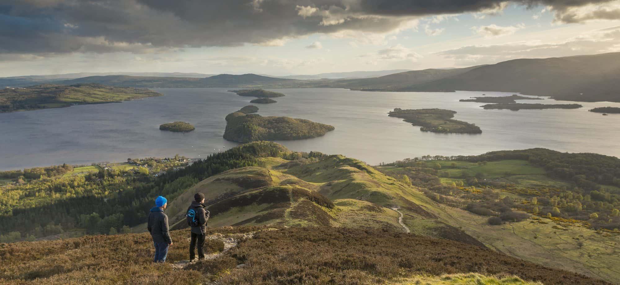 Conic hill Walkers Loch Lomond
