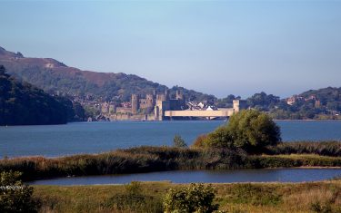 Conwy Castle Landscape, North Wales Coast Path