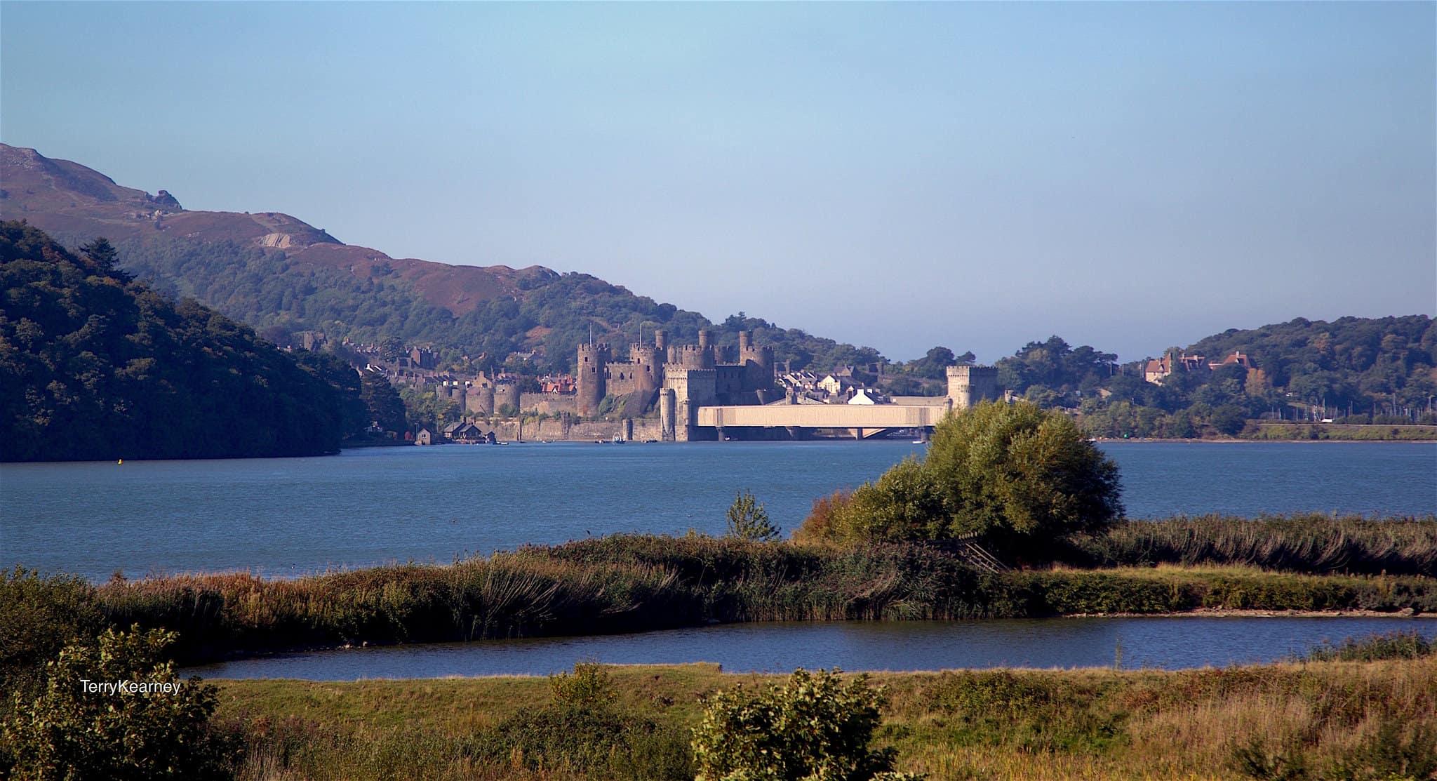 Conwy Castle Landscape, North Wales Coast Path